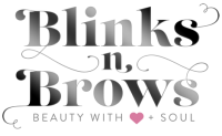 Blinks n Brows Logo Grey metallic on Transparent c
